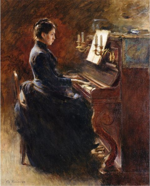 LW Girl at the Piano by Robinson