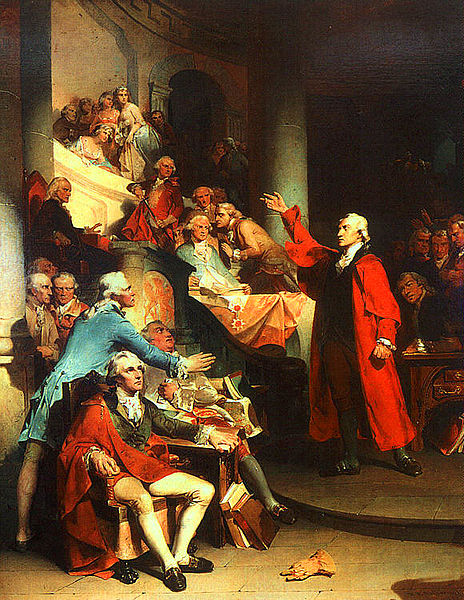 Patrick Henry before the Virginia House of Burgesses by Peter Rothermel