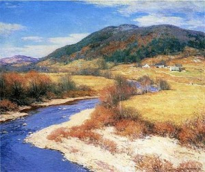 Indian Summer, Vermont by Willard Leroy Metcalf, public domain image