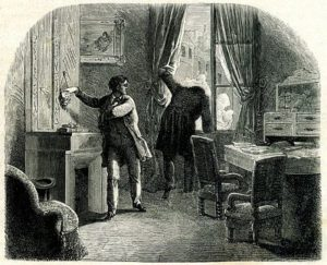 illustration to The Purloined Letter by E.A. Poe, illustrator unknown, public domain image
