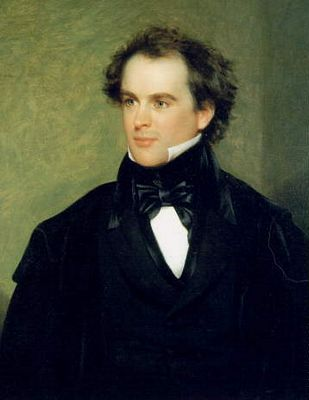 Portrait of Nathaniel Hawthorne, author of The Scarlet Letter, painted ...