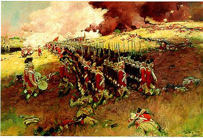 Battle of Bunker Hill by Howard Pyle, public domain image