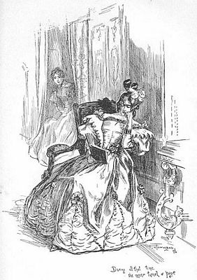 During all that time she never turned a page, 1847 edition of Jane Eyre, image by F. H. Townsend, public domain